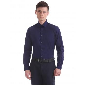 Arrow New York Men Casual Wear Solid Shirt