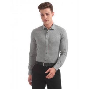Arrow New York Men Casual Wear Textured Shirt