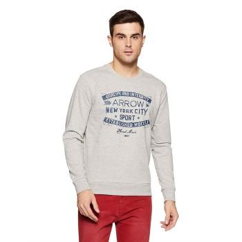 Arrow Sport Men Casual Wear Graphic Print Sweatshirt