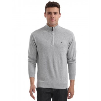 Arrow Sport Men Casual Wear Solid Sweater