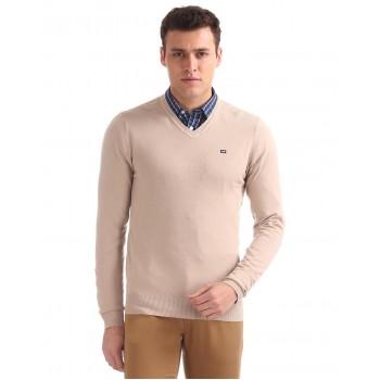 Arrow Sport Men Casual Wear Solid Sweater
