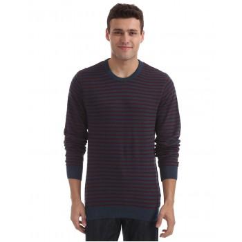 Arrow Sport Men Casual Wear Striped Sweater