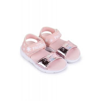 Frozen Girls Peach Casual Wear Sandals