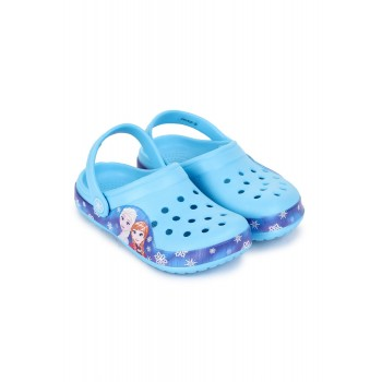 Frozen Girls Sky Blue Casual Wear Clogs