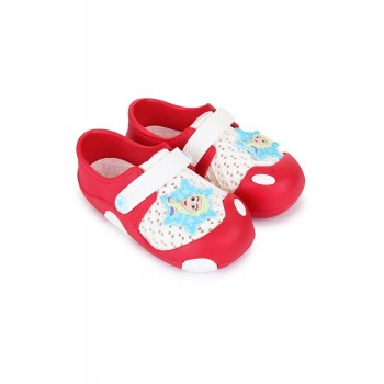 Frozen Girls Red Casual Wear Clogs
