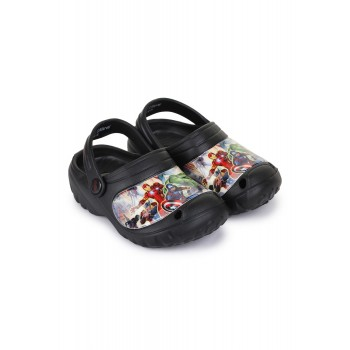 Marvel Boys Black Casual Wear Clogs