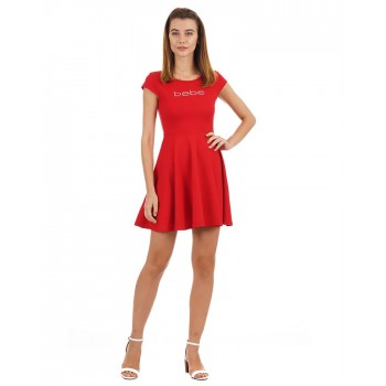 Bebe Women Casual Wear Solid Dress