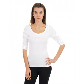 Bebe Women Casual Wear Solid T-Shirt