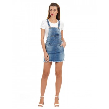 Bebe Women Casual Wear Solid Dungaree