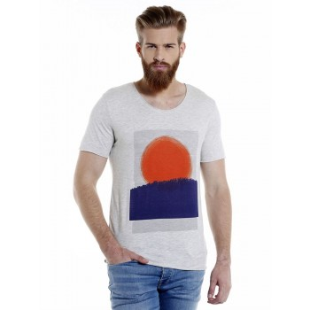 Selected Men Casual Wear Graphic Print T-Shirt
