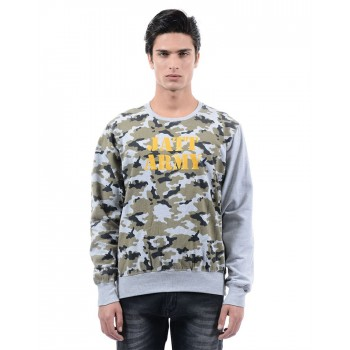BJazzy Men Multicolor Casual Wear Sweatshirt
