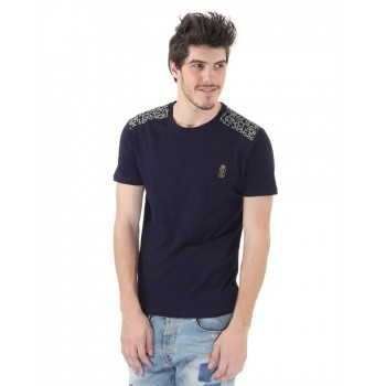 BJazzy Men Navy Casual Wear T-Shirt