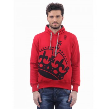 BJazzy Men Red Casual Wear Sweatshirt