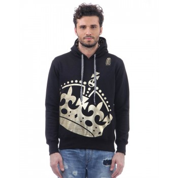 BJazzy Men Black Casual Wear Sweatshirt