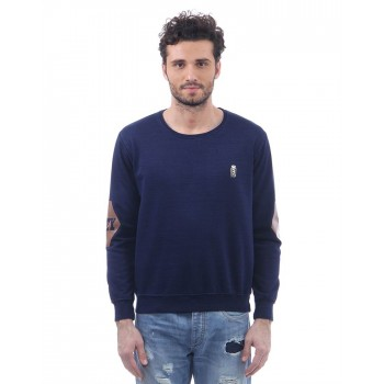 BJazzy Men Blue Casual Wear Sweatshirt