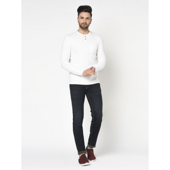 Blackberry Men Casual Wear White T-Shirt