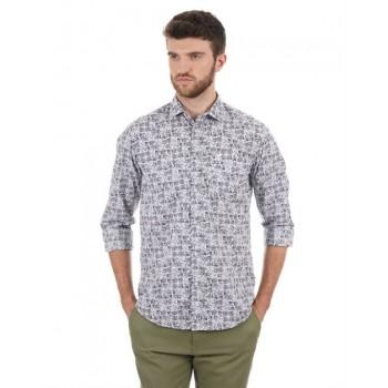 Blackberry Men Casual Wear Printed Shirt