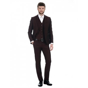 Blackberry Formal Men Formal Wear Solid Suit