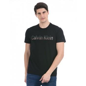 Calvin Klein Men Casual Wear Black T-Shirt