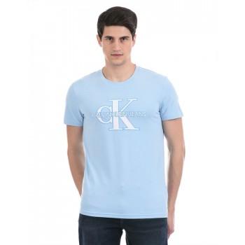 Calvin Klein Men Casual Wear Blue T-Shirt