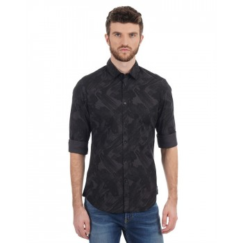 Calvin Klein Jeans Men Casual Wear Printed Shirt