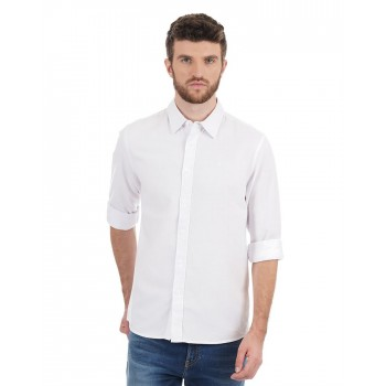 Calvin Klein Jeans Men Casual Wear Solid Shirt