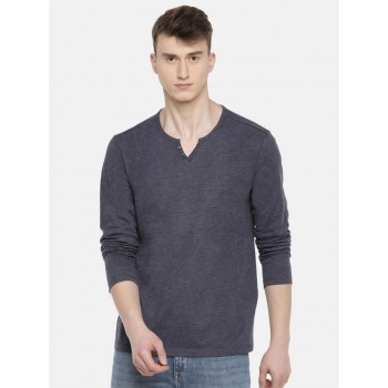 Celio Men's Heathered Slim Fit Casual Wear T-Shirt