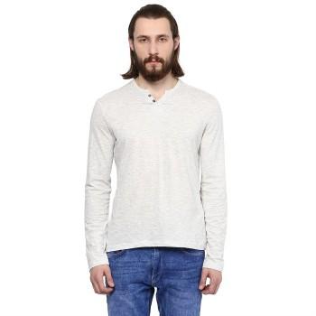CELIO Men's Heathered Slim Fit Casual Wear T-Shirt