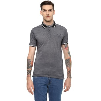 Celio Men's Plain / Solid Slim Fit Casual Wear Polo T-Shirt