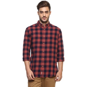 Celio Men's Checkered Straight Fit Casual Wear Shirt