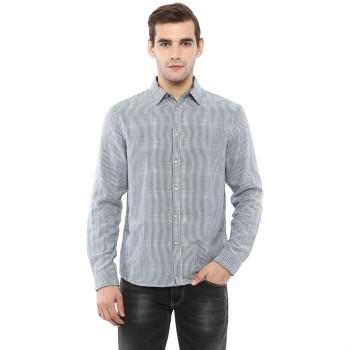 Celio Men's Pin Striped Regular Fit Casual Wear Shirt