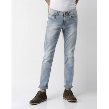 Celio Men Casual Wear Light Blue Jean