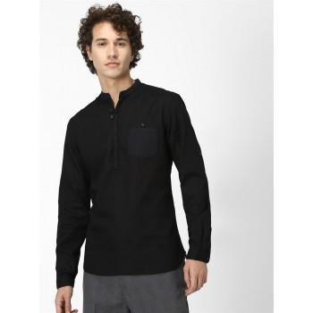 Celio Men's Plain / Solid Regular Fit Casual Wear Shirt