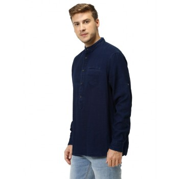 Celio Men Casual Wear Dark Blue Shirt