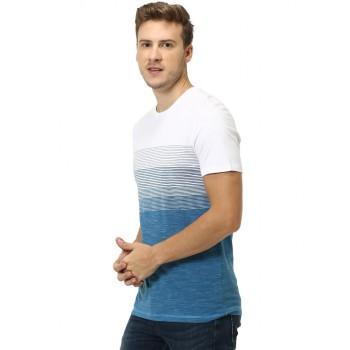Celio Men's Striped Slim Fit Casual Wear T-Shirt