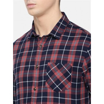 Celio Men's Checkered Slim Fit Casual Wear Shirt
