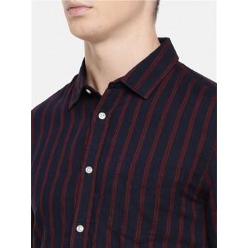 Celio Men's Striped Slim Fit Casual Wear Shirt