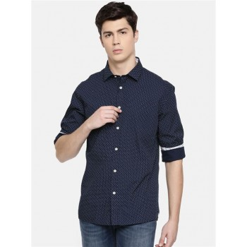 Celio Men's Polka Print Regular Fit Casual Wear Shirt