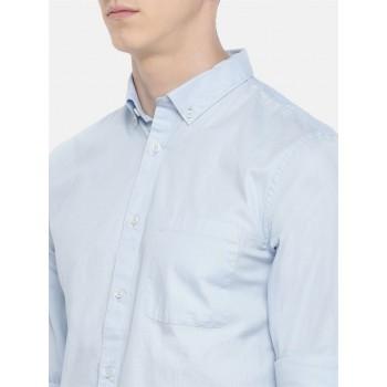 Celio Men's Plain / Solid Slim Fit Casual Wear Shirt