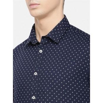 Celio Men's Dobby Slim Fit Casual Wear Shirt