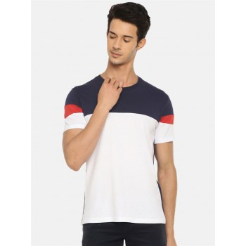 Celio Men's Color Block Straight Fit Casual Wear T-Shirt