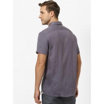 Celio Men Casual Wear Grey Shirt