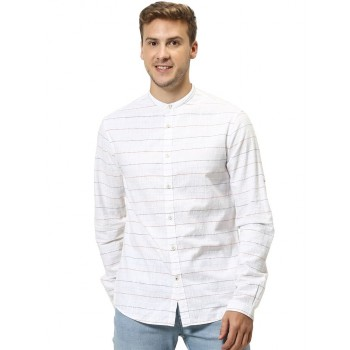 Celio Men's Striped Regular Fit Casual Wear Shirt