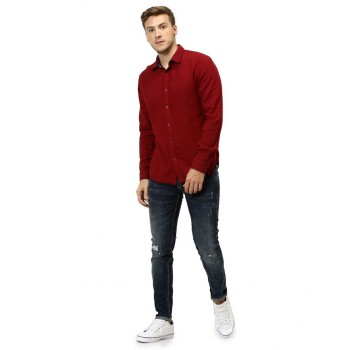 Celio Men's Plain / Solid Regular Fit Casual Wear Shirt