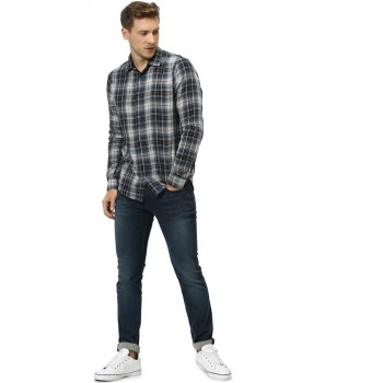 Celio Men's Checkered Regular Fit Casual Wear Shirt