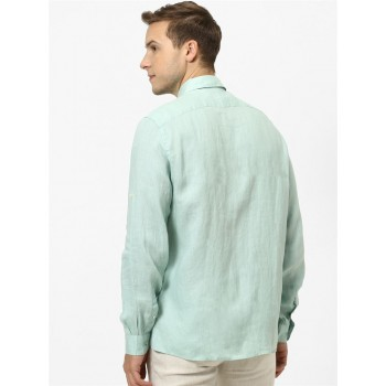 Celio Men Casual Wear Light Green Shirt
