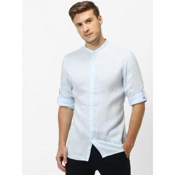 Celio Men Casual Wear Light Blue Shirt