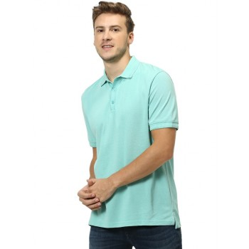 Celio Men's Plain / Solid Regular Fit Casual Wear Polo T-Shirt