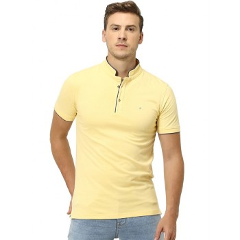 Celio Men's Plain / Solid Slim Fit Casual Wear T-Shirt
