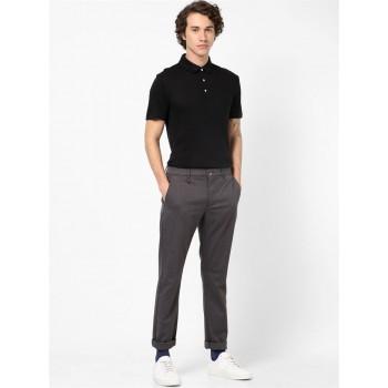 Celio Men Casual Wear Grey Trousers